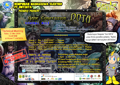 DotA Game Competition On Electrical Evolution (E-VO) 2014