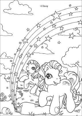 lindos desenhos de Pônei para colorir