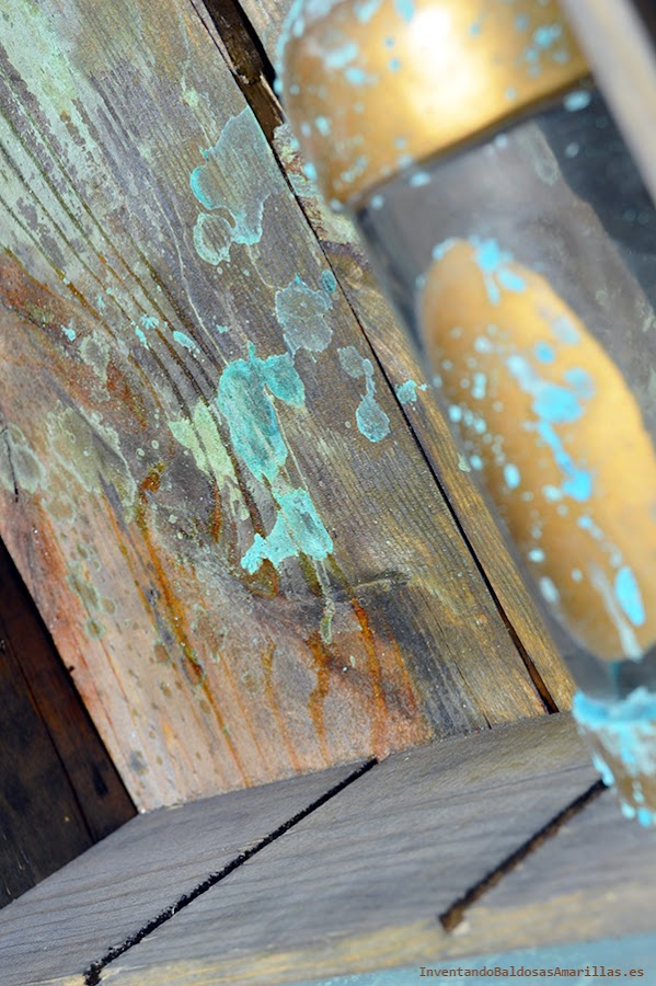 Efecto oxidado en madera