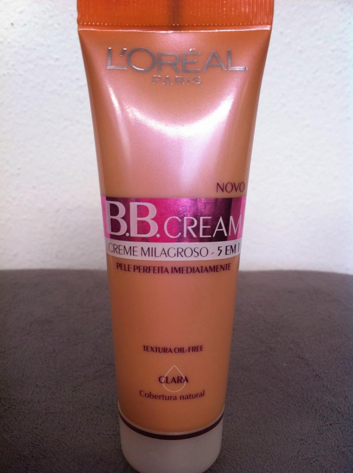 bb cream, creme milagroso, base, rosto, pele perfeita, oil free, protetor solar, loreal paris