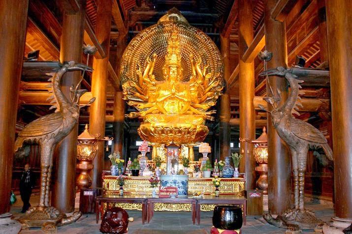 tượng phật nghìn mắt nghìn tay Chùa Bái Đính - Ninh Bình