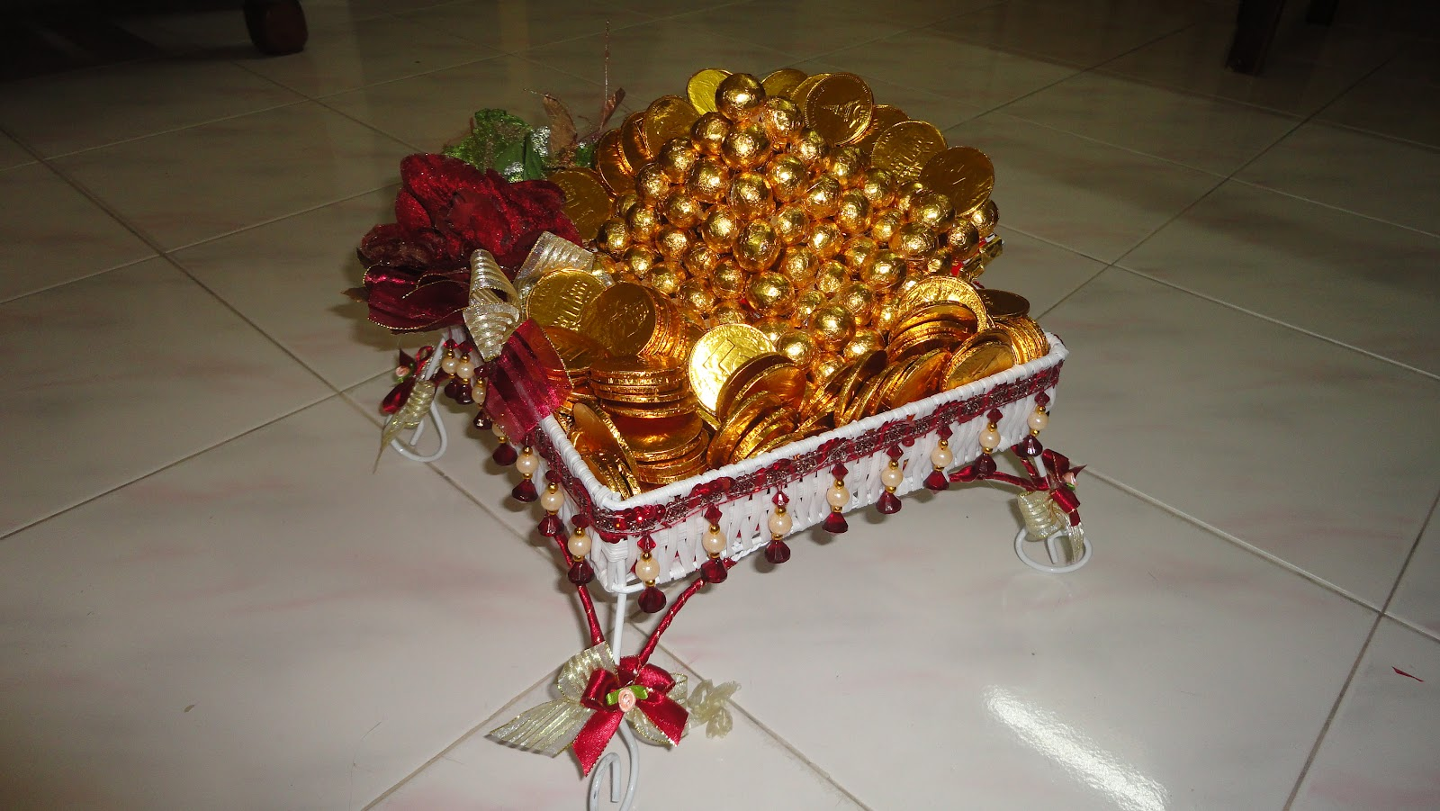 Shivanggi engagement tray decoration for Decoration decoration