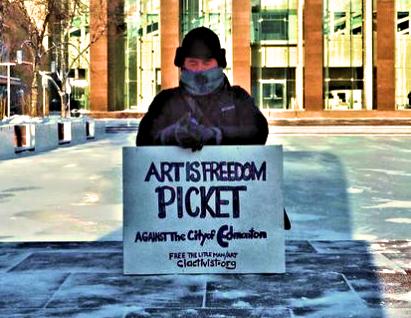 ART IS FREEDOM - PICKET