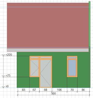 detail ukuran denah rumah type 36
