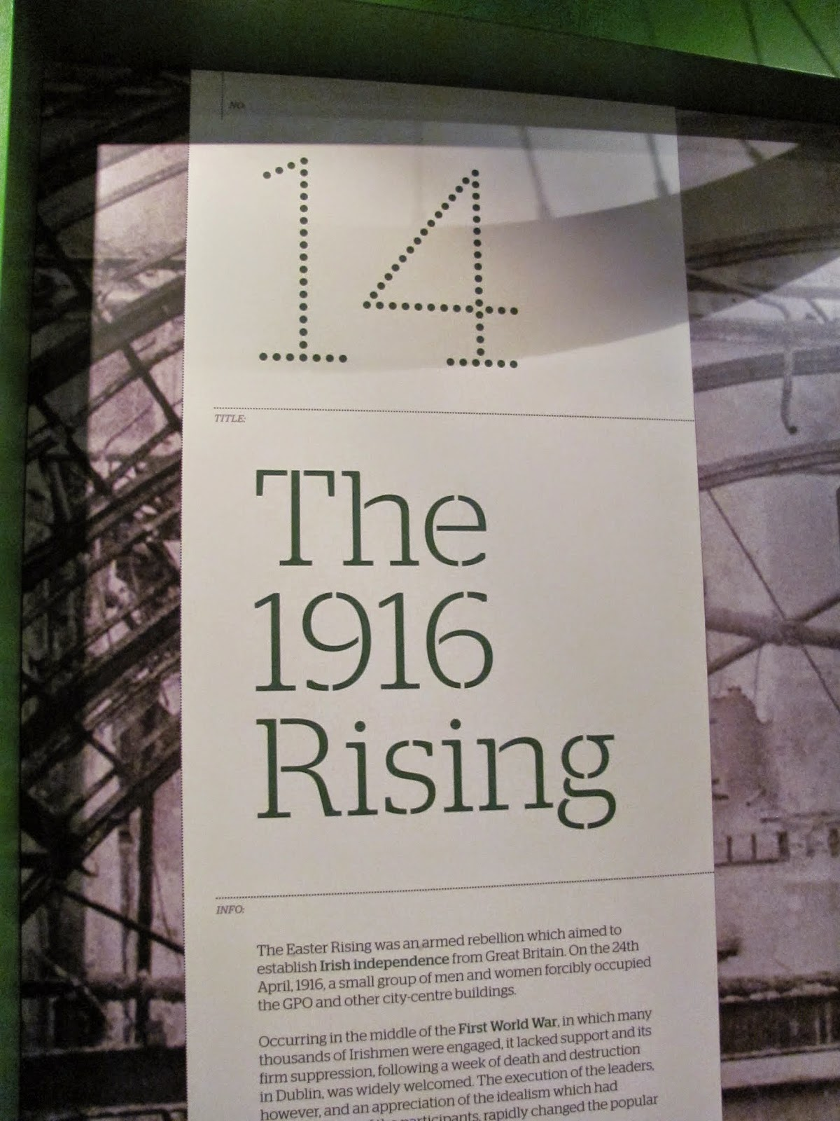 The 1916 Rising Exhibit
