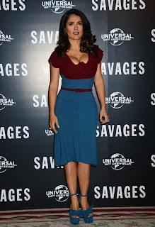Salma Hayek at Savages Photocall in London