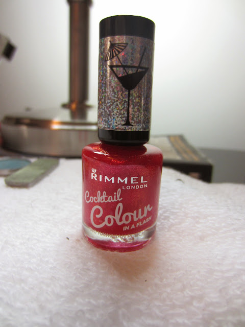 rimmel cocktail colour nail polish hawaiian punch photo swatch review