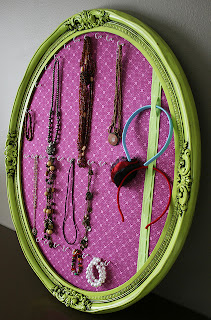 mirror+turned+jewelry+organizer Guest Post: Stylish Jewelry Organization