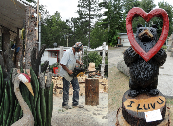 Michigan daily photo chainsaw carvings in paradise