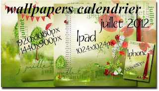 calendrier wallpapers plusieurs formats