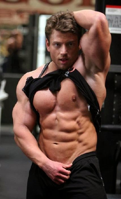 Muscular Bodybuilder's Armpits