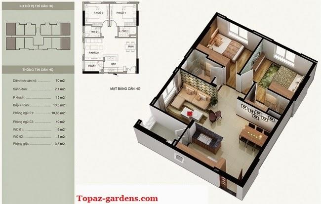 can ho Topaz Garden 70m2