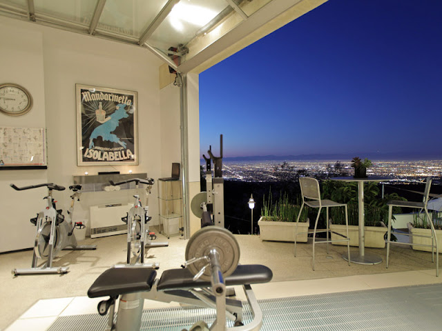 Photo of home gym with the view