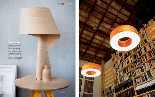 Lámparas de madera Espacios en madera