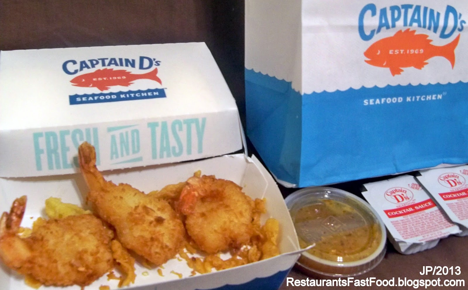 Captain D S Seafood Restaurant Panama City Florida West 23rd Street Fast Food Fish Shrimp Fl