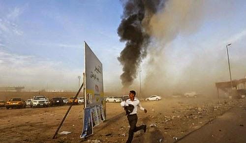 اقتحام سيارة مفخخة لتجمع انتخابي في بغداد