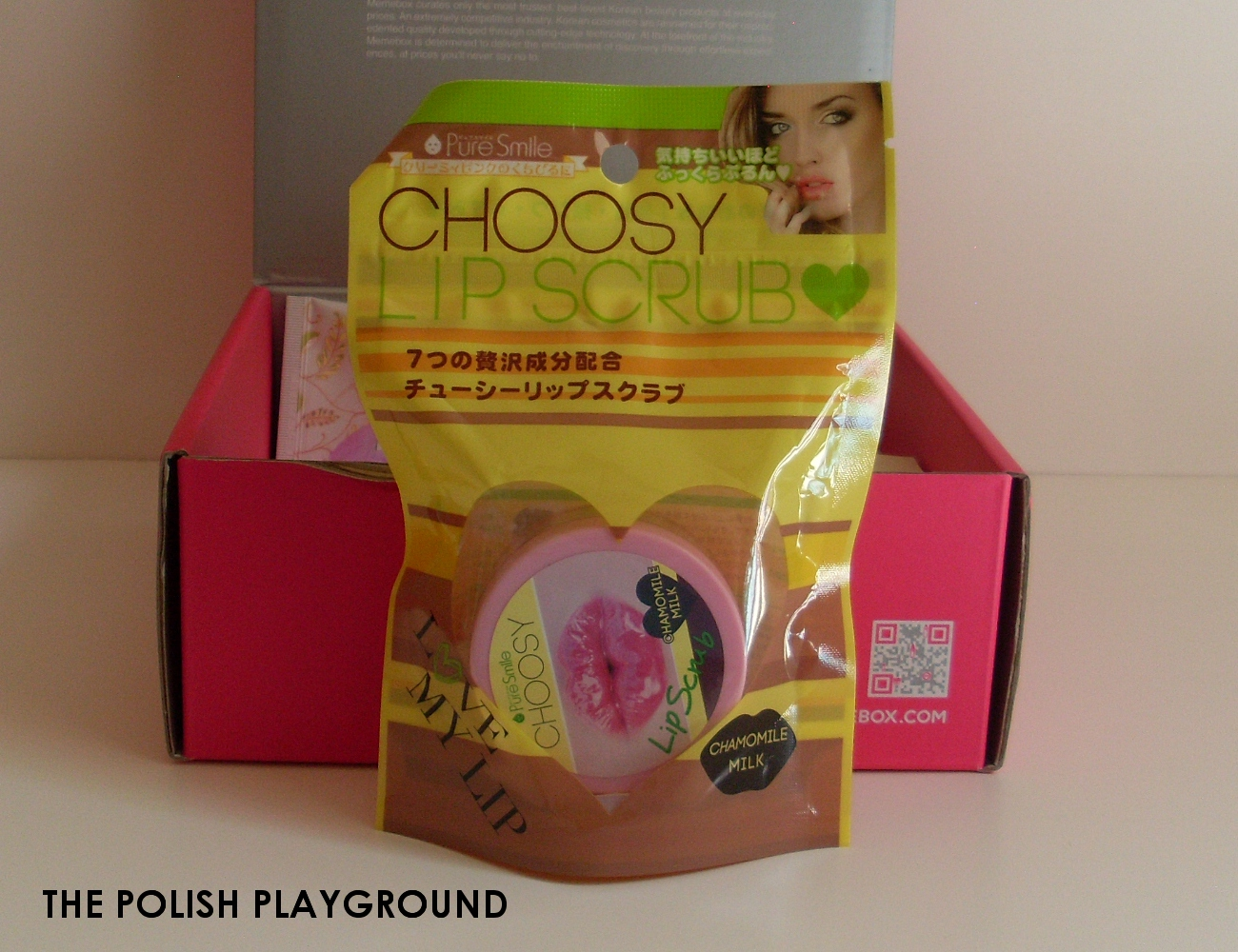 Memebox Special #7 Milk Unboxing - Pure Smile Choosy Lip Scrub in Chamomile Milk