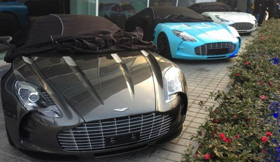 Three Aston Martin One-77's spotted in China 