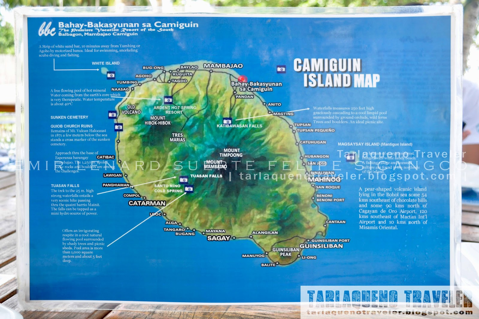 Bahay Bakasyunan sa Camiguin Tourist Map