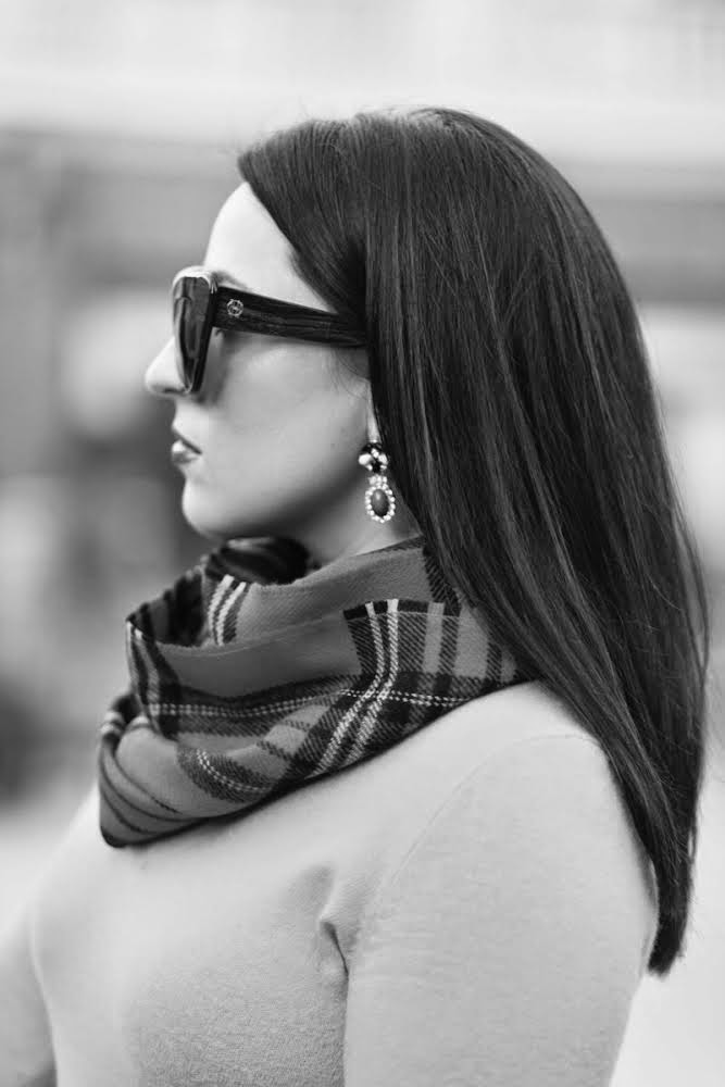 plaid winter scarf