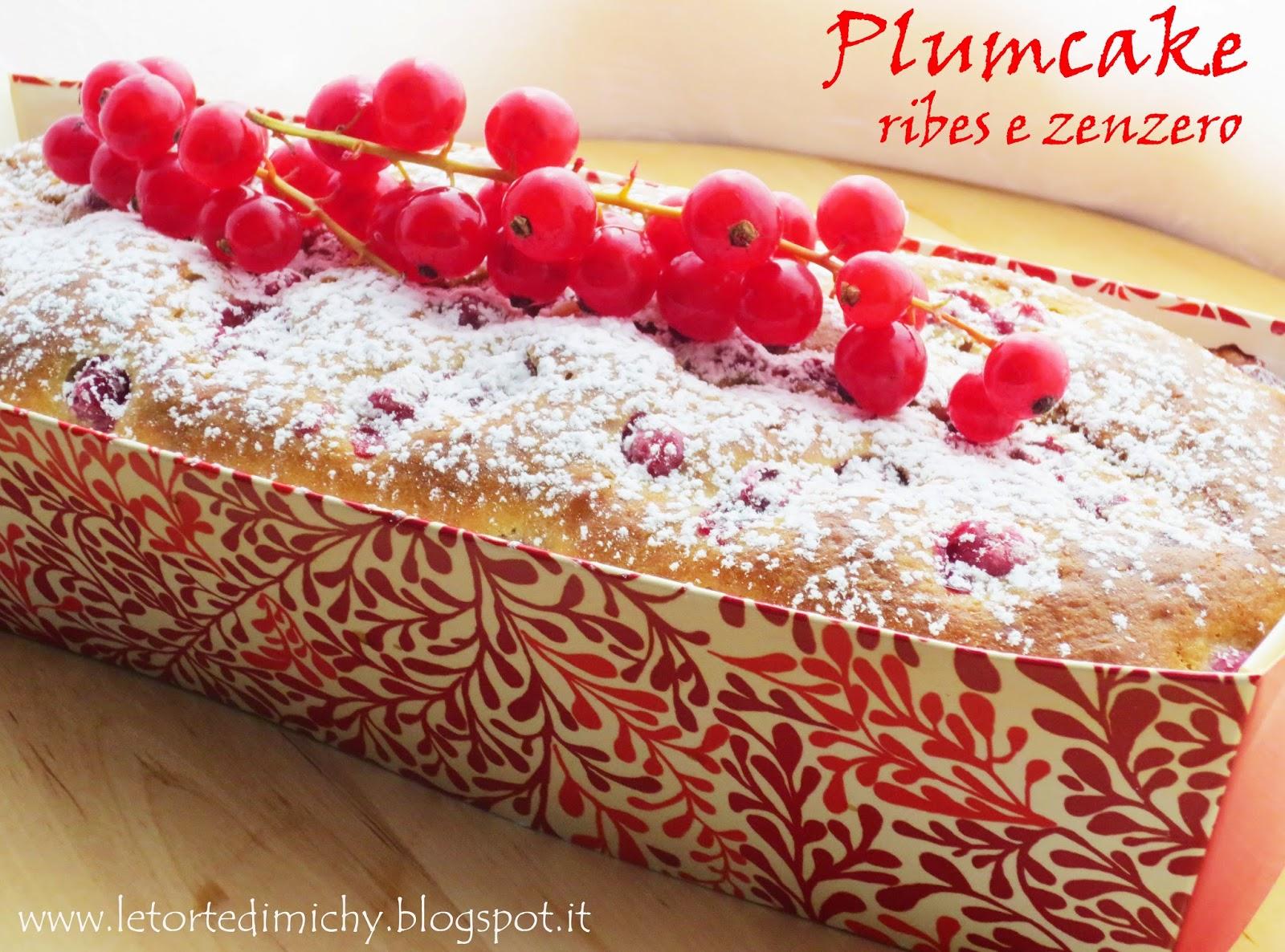 plumcake ribes e zenzero