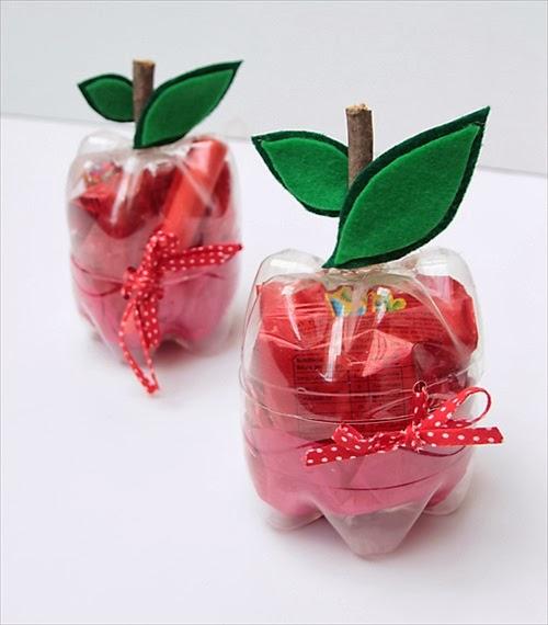 Plastic Soda Bottle Apple Craft