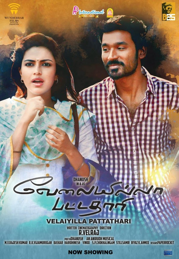 Watch Velaiyilla Pattathari (2014) DVDScr Tamil Full Movie Watch Online Free Download
