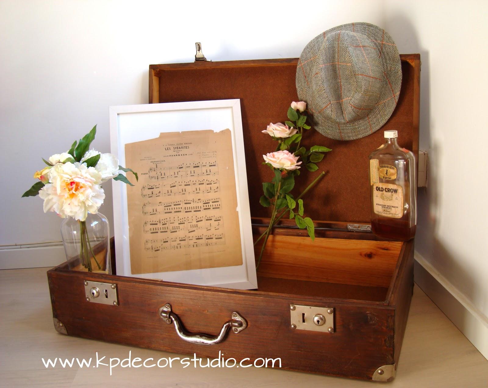 Kp tienda vintage online maleta de madera antigua old for Maletas antiguas online