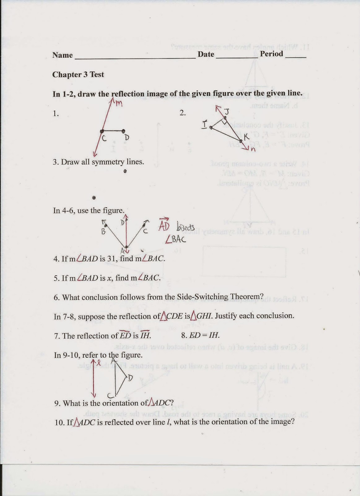 worksheet Parallel Lines And Transversal Worksheet geometry common core style september 2014 20 the shortest distance is perpendicular distance