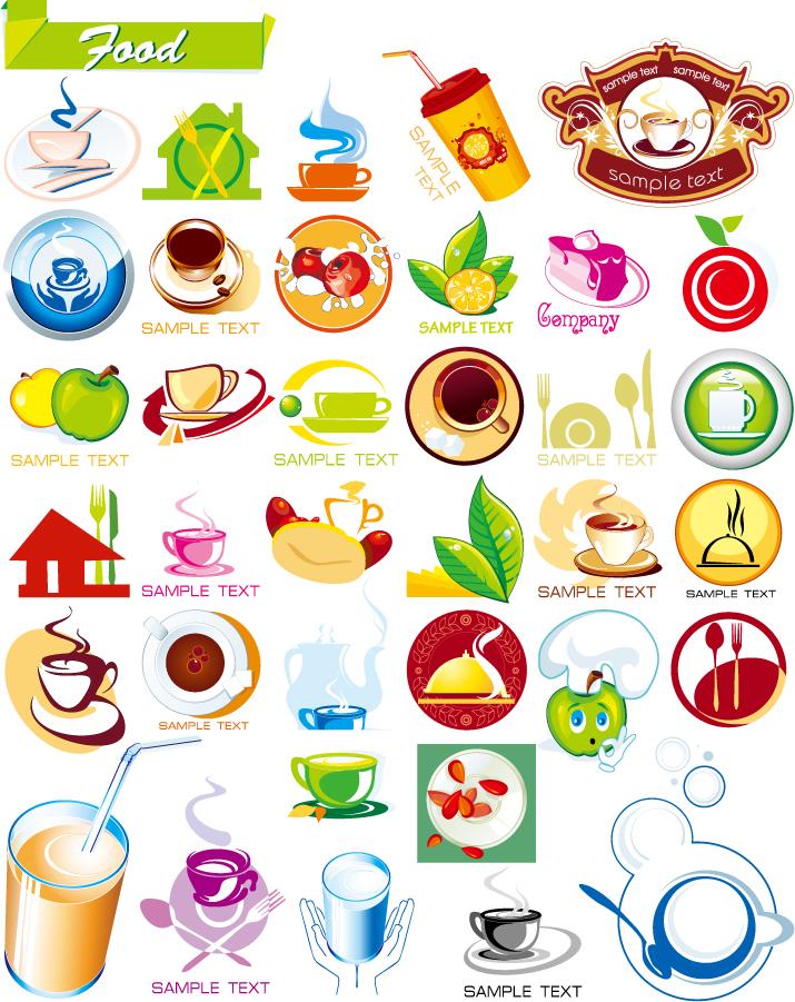 珈琲喫茶デザイン アイコン coffee hot drinks icons イラスト素材