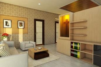Jasa desain interior ruang tamu rumah tinggal