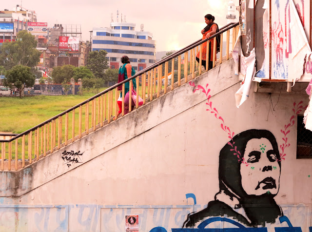 street art by stinkfish in nepal 7