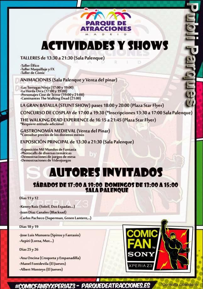 Actividades COMIC FAN by Sony Xperia Z3