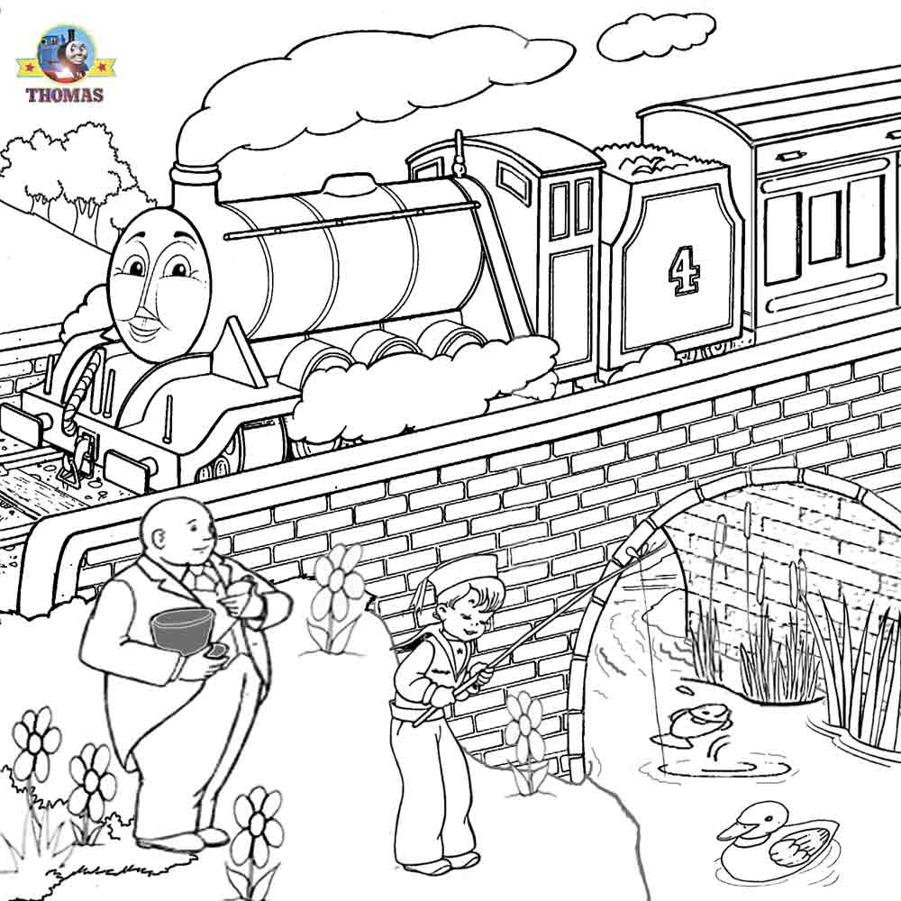 Free online coloring thomas and friends clipart printable for Thomas the train coloring book pages