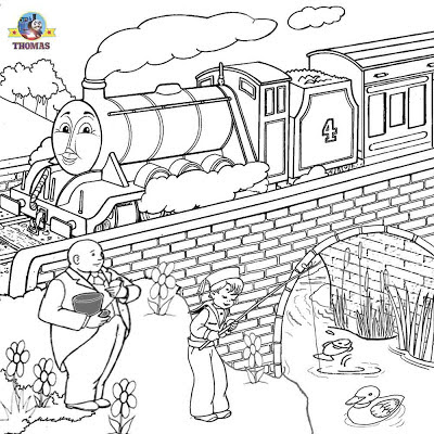 Gordon the tank engine coloring page Thomas and Friends clipart printable online pictures for kids