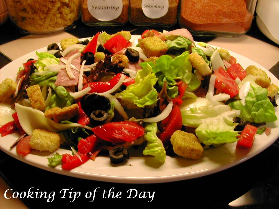 Cooking Tip of the Day: Recipe: Antipasto Salad