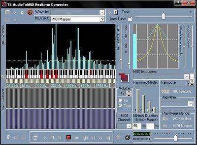 Cara menggunakan tool TS Audio To Midi 3.30 Converter ini menurut saya luma