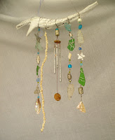 seaglass and driftwood windchime