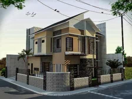 Gambar Perpaduan Warna Cat Rumah Tampak Depan Trend Minimalis | Desain Rumah Minimalis