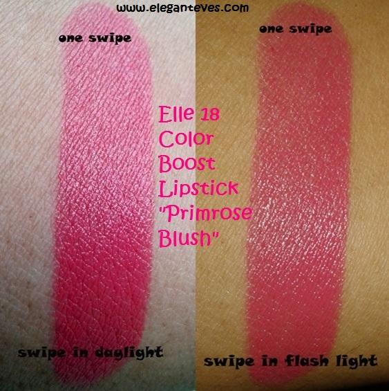 ELLE 18 Primrose Blush Color Boost lipstick.