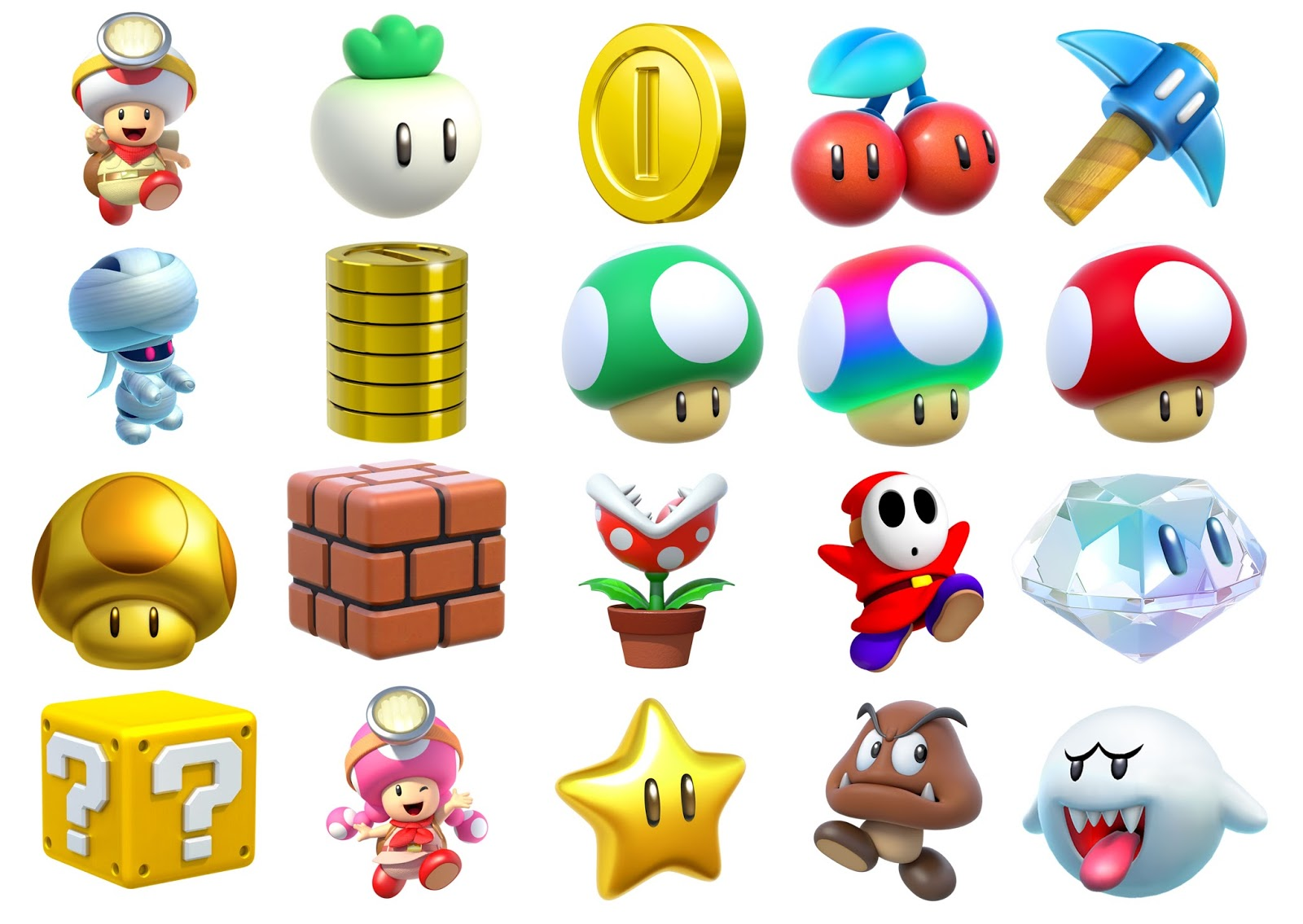 super mario scavenger hunt with downloads - Super Mario Pictures To Print