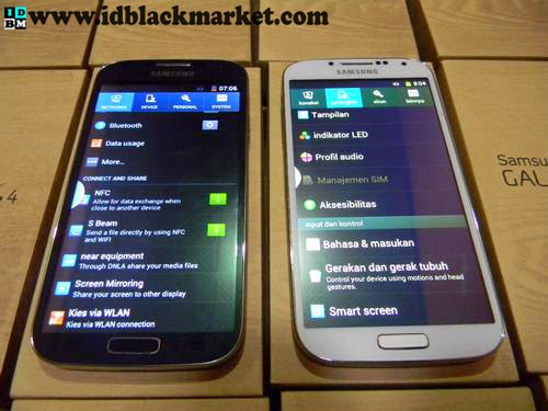 Samsung s4 5inch replika hitam putih