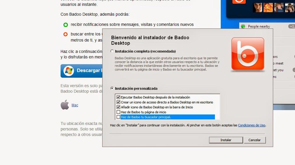 badoo desktop personalizada