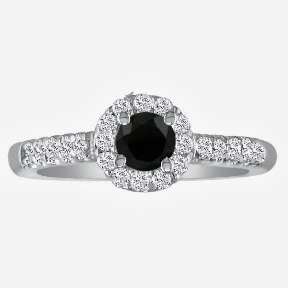 Discount 85% For Hansa 0 89ct Black Diamond Engagement Ring in 14k White Gold