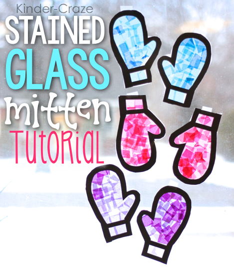 image Kawartha Lakes Mums January craft - Stained glass mitten tutorial - Kinder craze
