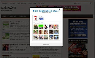 Cara pasang fans fage facebook dengan pop up window