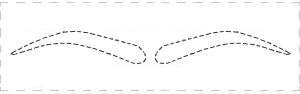 Légend image with regard to eyebrow template printable