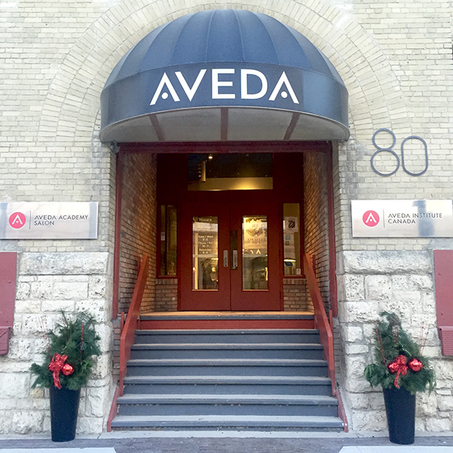 Aveda salon in Winnpeg