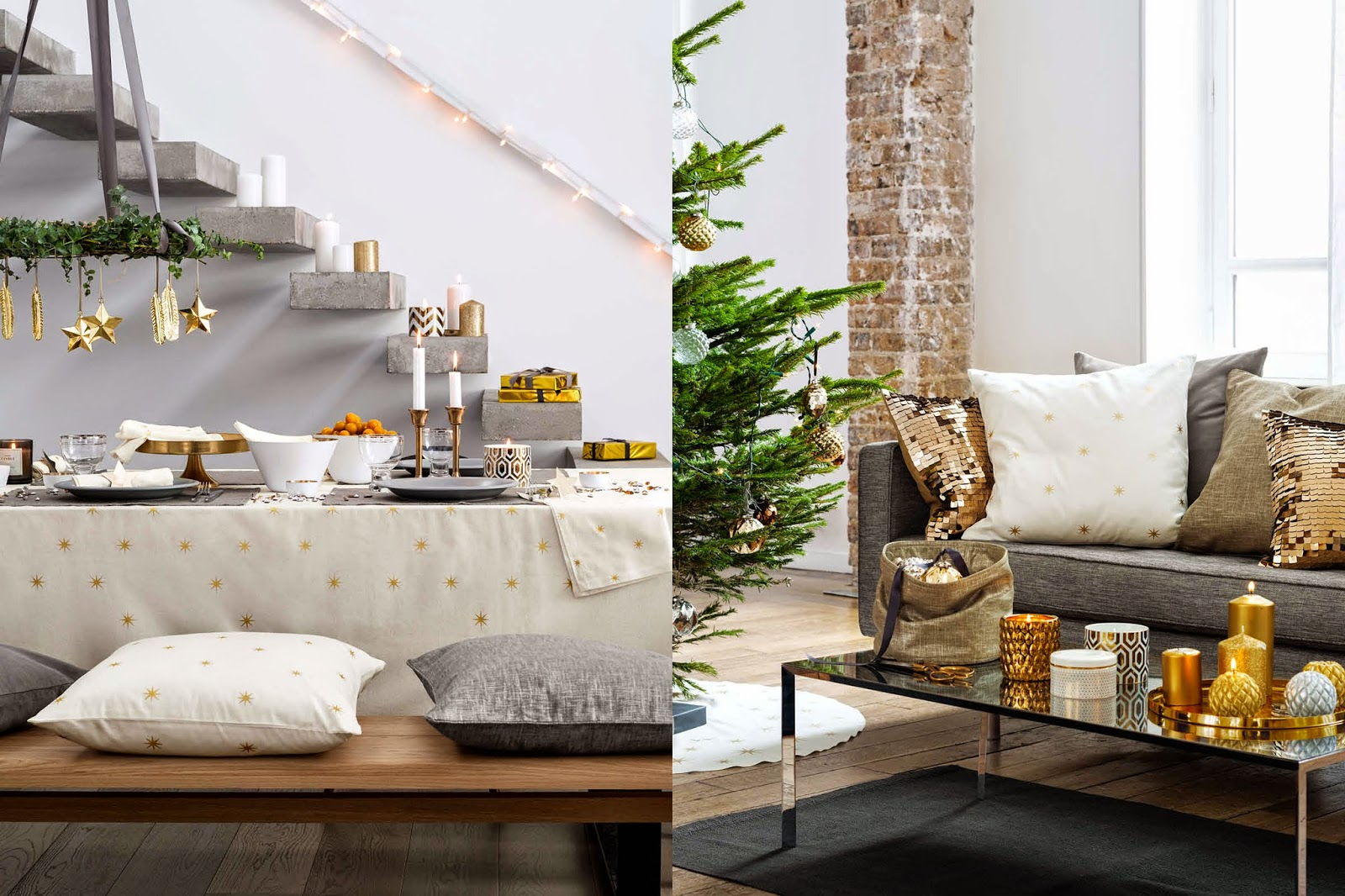 Decoraci n f cil tendencias navidad 2014 2015 segun h m home for Decoracion hogar tendencias