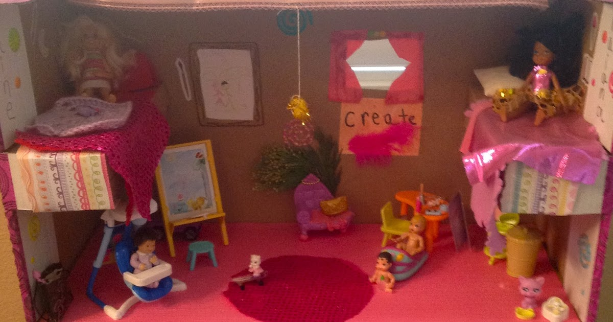 DIY Cardboard Barbie House